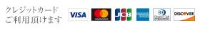 各種クレジットカード使えます